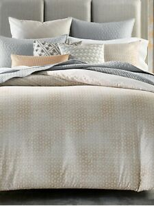 Hotel Collection Bedford Geo King Comforter Color Gray/Neutral