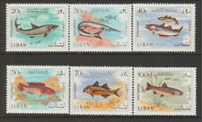 LEBANON, SCOTT, MNH # C534-39, FISH, VALUE $ 19.65