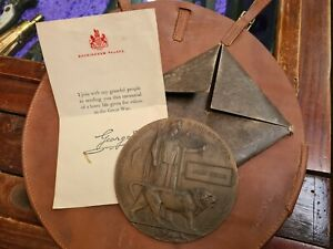 WW1 DEATH PLAQUE CARD PACKET AND LEAFLET 4TH LIGHT HORSE
