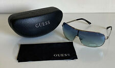 NEW! GUESS SILVER & BLUE SHIELD SUNGLASSES SHADES SUNNIES GU7196 SALE