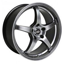 17x8 Enkei VR5 5x114.3 +40 Hyper Black Rims Fits Veloster Mazda Speed 3