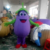 Eggplant Mascot Adversting Costume Purple Vegetable Fancy Dress Party Outfit NEW