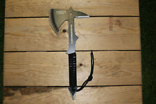 "15"" Tactical Tomahawk Throwing Hatchet Axe Fixed Blade Survival Knife w/ Sheath"