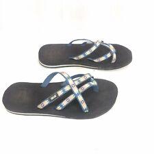 Teva 6840 Olowahu Flip Flops Slip On Thongs Strappy Sandals Womens Size 8