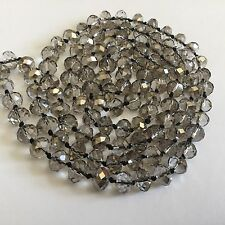 Vintage Gray Crystal Glass Bead Necklace