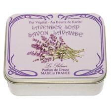 Savon Le Blanc Lavender Soap in  Lavender Flower Tin - 3.5oz