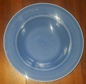 "Williams Sonoma Portugal ""BELVEDERE"" Denim Blue Pattern Rimmed Pasta / Soup Bowl"