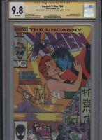Uncanny X-Men #204 CGC 9.8 2x SS Whilce Portacio & Chris Claremont 1986
