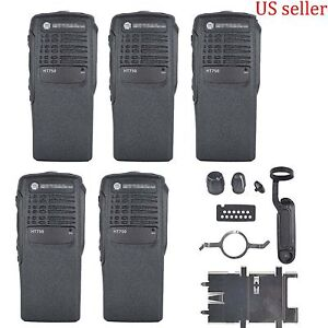 5x Black Replacement Kit front case Housing HT750 Portable radios