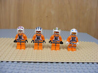 4 LEGO Star Wars Pilot Minifigures Luke Skywalker Ralter Zev Senesca