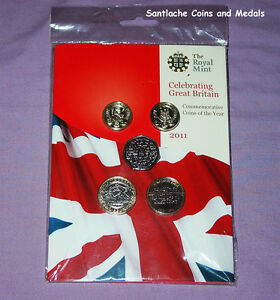 2011 ROYAL MINT BRILLIANT UNCIRCULATED SET COINS - Mint Sealed - SCARCE COINS
