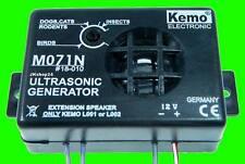 NEU! KEMO ULTRASCHALL UNGEZIEFER-SCHUTZ TIER-ABWEHR 12 V/DC Ultrasonic-Generator