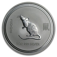 2008 1 oz Silver Lunar Year of the Mouse Coin (Series I)