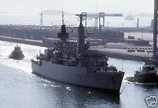 Royal Navy HMS Brilliant, Exercise Ocean Safari 1985,  12x8  inch reprint photo