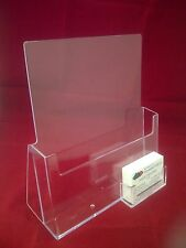 A4 LEAFLET HOLDER BROCHURE DISPENSER & BUSINESS CARD HOLDERS DISPLAY STANDS