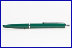 NOS 1980's STEEL & British Racing Dark Green Traveller ballpoint pen n° 5200