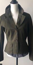 Sitwell Womens Khaki Jacket Blazer Size 10 Excellent Condition