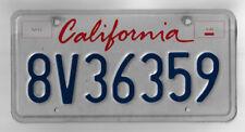 California Commercial License Plate Single - Lipstick Letter Design - # 8V36359