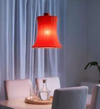 Ikea Lamp Shade ÄMTEVIK Orange 37 cm + Base