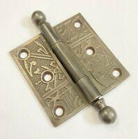 Antique 3 x 3 Ornate Cast Iron Door Hinge Architectural Salvage Hardware