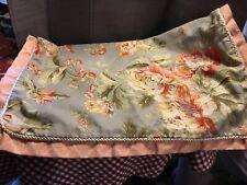 Pair Waverly Floral Lattice Reversible Standard Pillow Shams