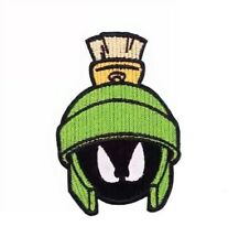 "Marvin The Martian Character Face 3 1/2"" Tall Iron On Patch"