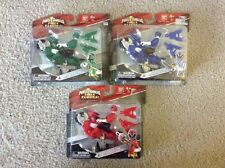 New Lot Power Rangers Mini Cycle With Samurai Rangers Red Green Blue
