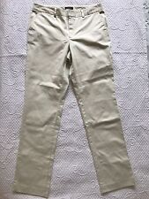 LandsEnd Women Flat Front Beige Chino Pants Tapered Solid/ Size: 14/16