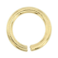 14K Solid Yellow Gold 4mm Jump Ring Round Open 21 Gauge Chain End 1 Piece USA