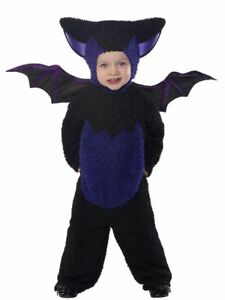 Baby or Toddler Halloween Fancy Dress Bat All in One Costume Suit by Smiffys
