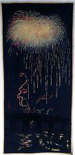 Original Japanese Woodblock print by Shotei  - Fireworks at Ryogoku c.1936