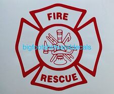 Fire Rescue Decal Ambulance Department Fireman Car Truck Window Vehicle Sticker