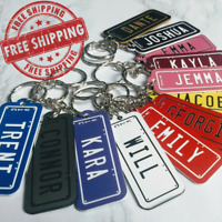 Rego Plate Key Tag / Bag Tag - Any State - FREE POST - [State on Side]