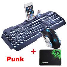 GB Technology M398 Punk LED Backlit Usb Ergonomic Gaming Keyboard + Mouse Set