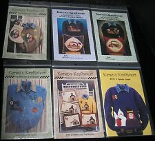 LOT OF 6 KAREN'S KRAFTWEAR APPLIQUE PATTERNS FOR EVERY SEASON NEW AND UNCUT