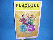 Playbill: 9 to 5 The Musica, Walnut Street Theatre, Philadelphia PA, Free Ship