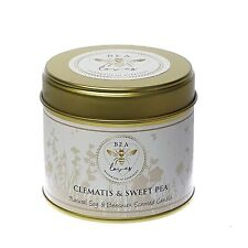 Bea Loves Natural Scented Soy Wax Pure Beeswax 250g Candle: Clematis & Sweetpea