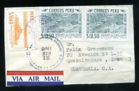 PERU to GUATEMALA airmail cover - Very Nice