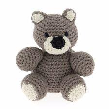 Hoooked DIY Crochet Kit Billie Bear Amigurumi Eco Barbante Recycled Toy Gift Taupe Pak110-801