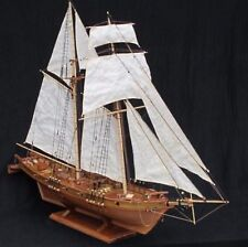 Wooden Model Ship Assembly Boat DIY Set Kit Scale Classic Sailing Wood Decor New