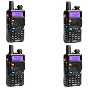 4X BaoFeng UV-5R 5W WalkieTalkie FM Dual Band VHF/UHF Two-Way Radios Transceiver