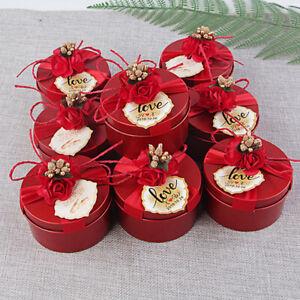 Runde Candy Chocolate Box Hochzeitsfeier Gefälligkeiten und Geschenke BoxenDMZ