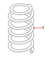 Audi A3 8PA Front Left Coil Spring 5Q0411105KH NEW GENUINE