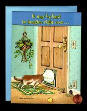 PATTERSON GET WELL Puppy Dog Cone Door House Plant Mat Mouse Hole Greeting Card