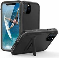 For Apple iPhone 11 Pro Max Waterproof Case w/ Screen Protector & kickstand