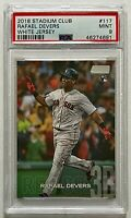 2018 Topps Stadium Club Rafael Devers RC PSA 9 MINT Red Sox White Jersey #117