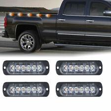 4-Pack White Red Blue Amber 6 LED Strobe Light Flashing Car Truck Warning Lamps