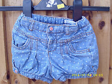 GIRLS SHORTS AGED 18 MONTHS