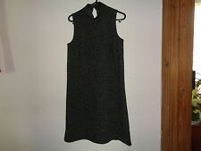 LADIES ATMOSPHERE GREEN AND BLACK ANIMAL PRINT DRESS SIZE 8