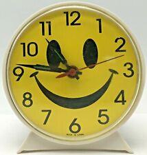 Vintage Smiley Face Clock Smile Face Novelty Wind Up Alarm Clock